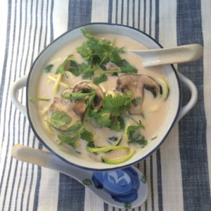Review of the My New Roots Thai Style Coconut Soup, Raspberry Ripple Buckwheat Porridge and Grilled Zucchini