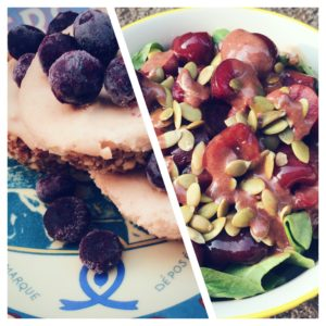 Review of the Minimalist Baker's Kale Cherry Salad and Cheesecakes