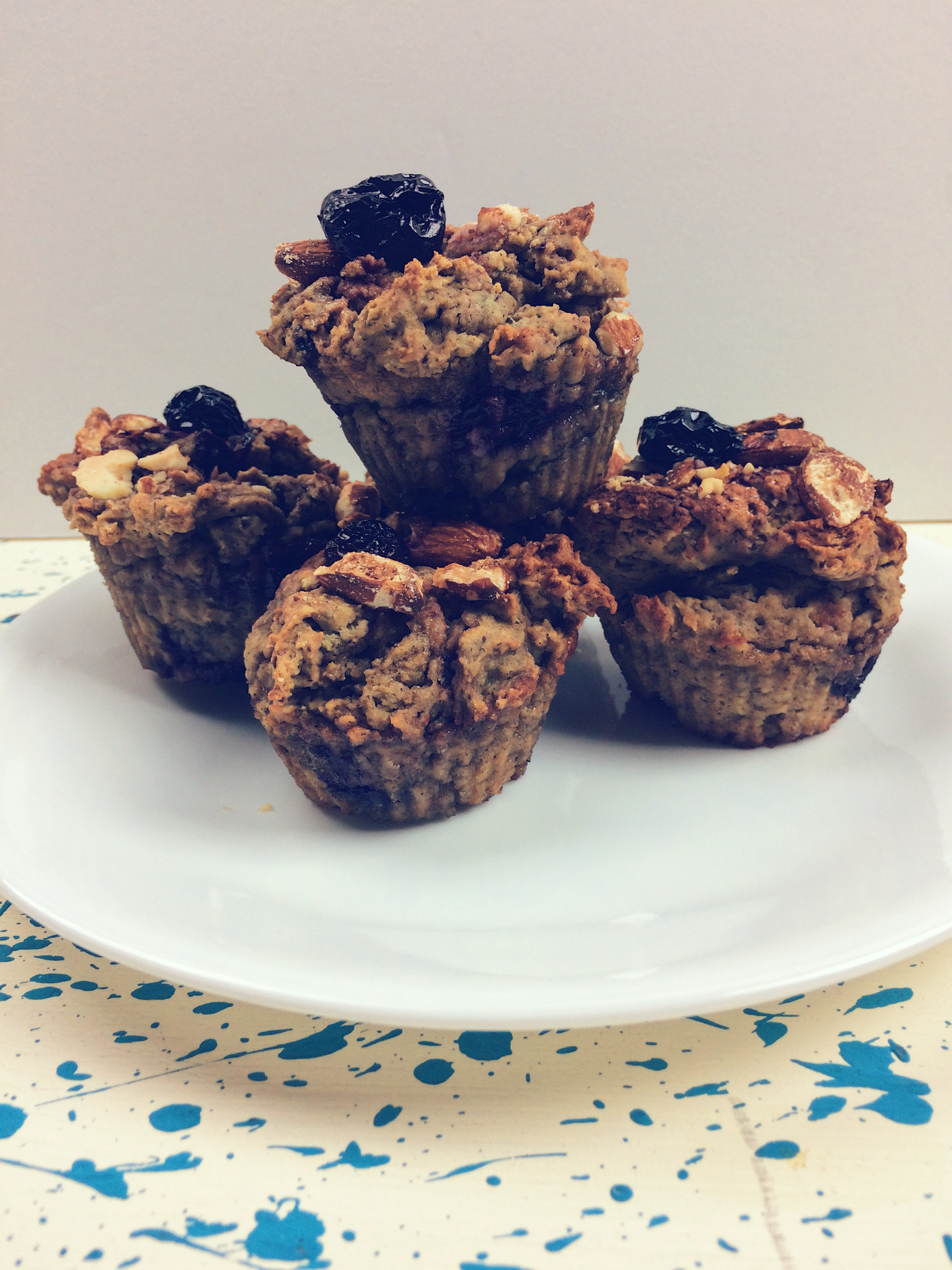 One Part Plant Almond Cherry Muffins