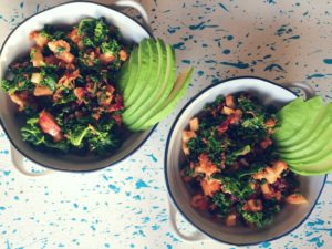Zesty Kale Salad with Apples and Walnuts