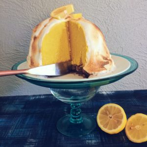 The Most Epic Vegan Lemon Meringue Baked Alaska