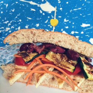 Zesty Mediterranean Panini with Grilled Tofu and Zucchini